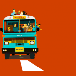 travel bus animation