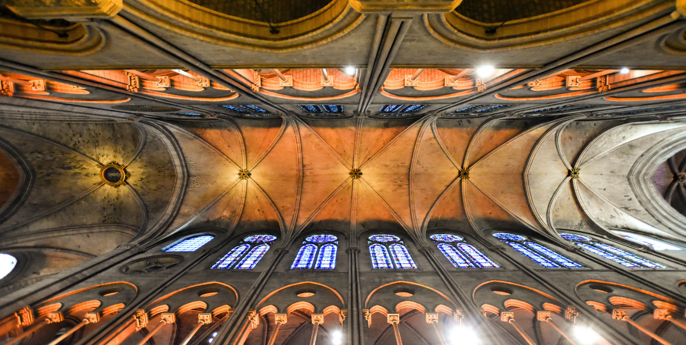 Reims Cathedral ceiling