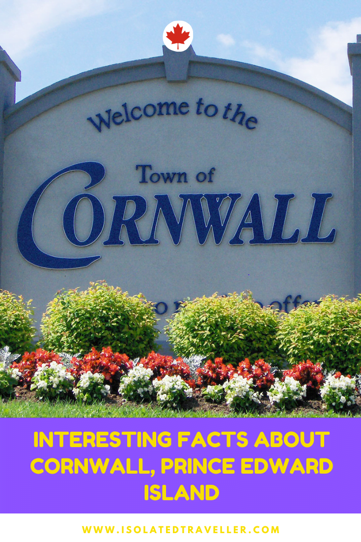 Facts About Cornwall, Prince Edward Island