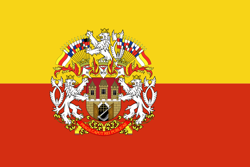 Prague Flag with Coat of Arms